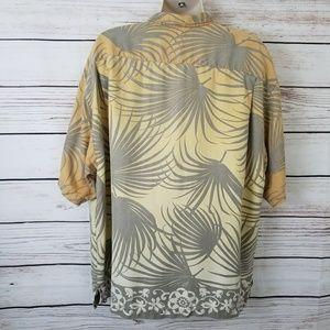 Tommy Bahama Shirts - Tommy Bahama Silk Palm Leaves Hawaiian Shirt